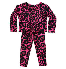 Sofi Fuschia Leopard 2 pc Knotted Infant  Set