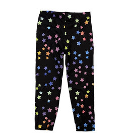 Social Butterfly Black Rainbow Stars Soft Infant Legging