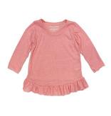 Small Change Pink Ruffled Tunic Top