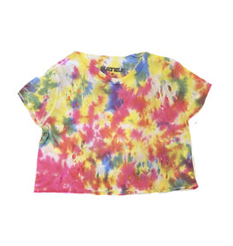 Katie J NYC Candy TD Distressed Crop Top