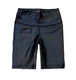 Katie J NYC Brit Wet Black Bike Shorts