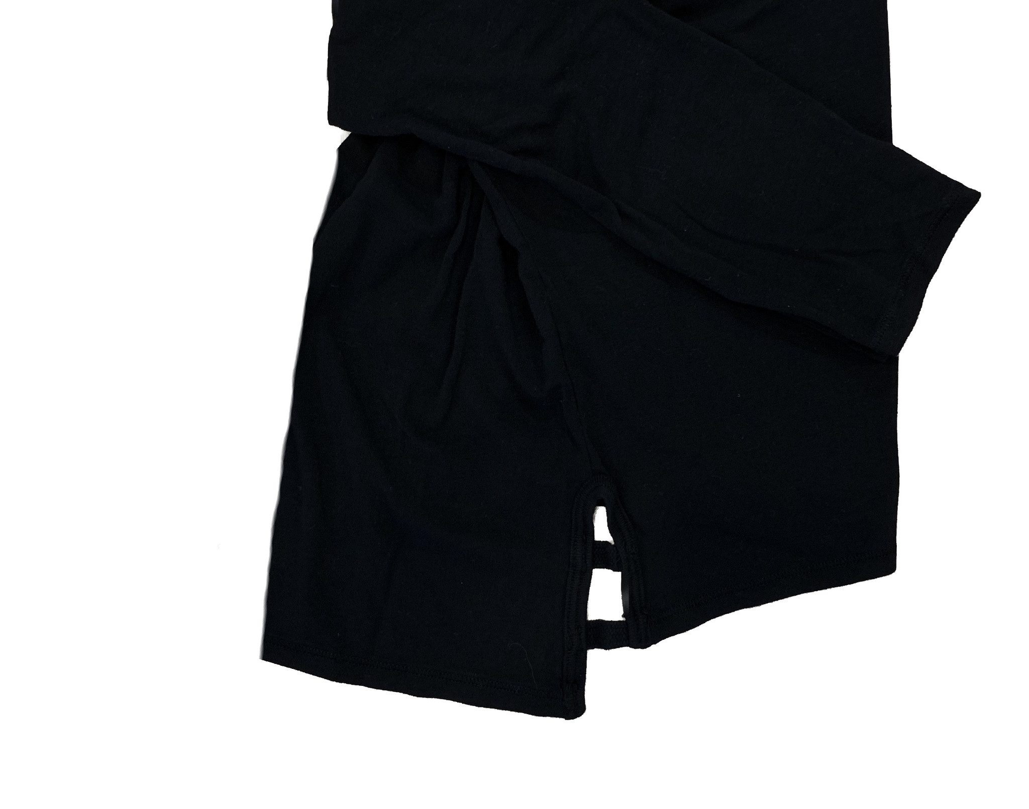 T2Love Black Soft Tee with Side Slits