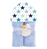 Baby Jar Blue Star Hooded Towel