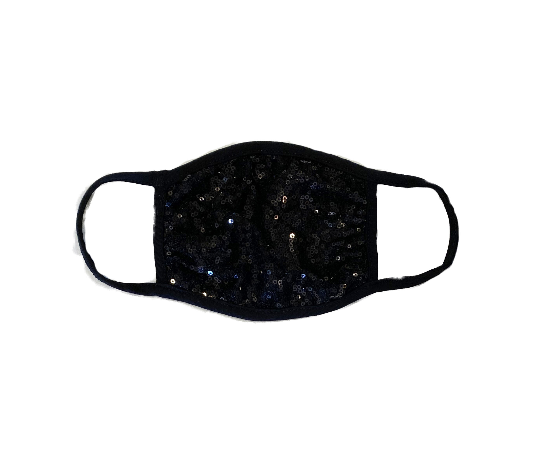 Soft Black Sequin Mask for Adults