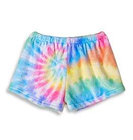 Top Trenz Delight Tie Dye Plush Shorts