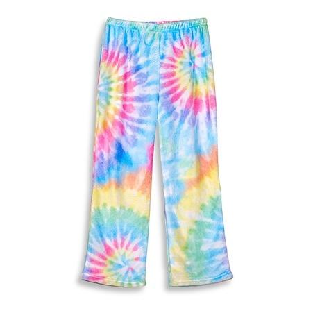 Top Trenz Delight Tie Dye Plush Pant