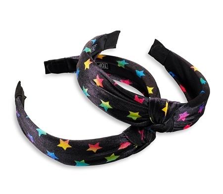 Rainbow Stars Knot Headband