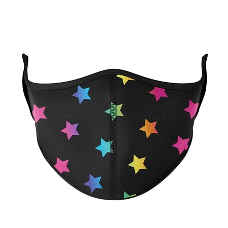 Rainbow Stars Mask- Adjustable for Tween ages 8+
