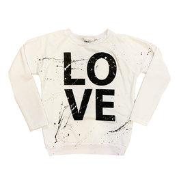 Firehouse White Splattered LOVE Sweatshirt