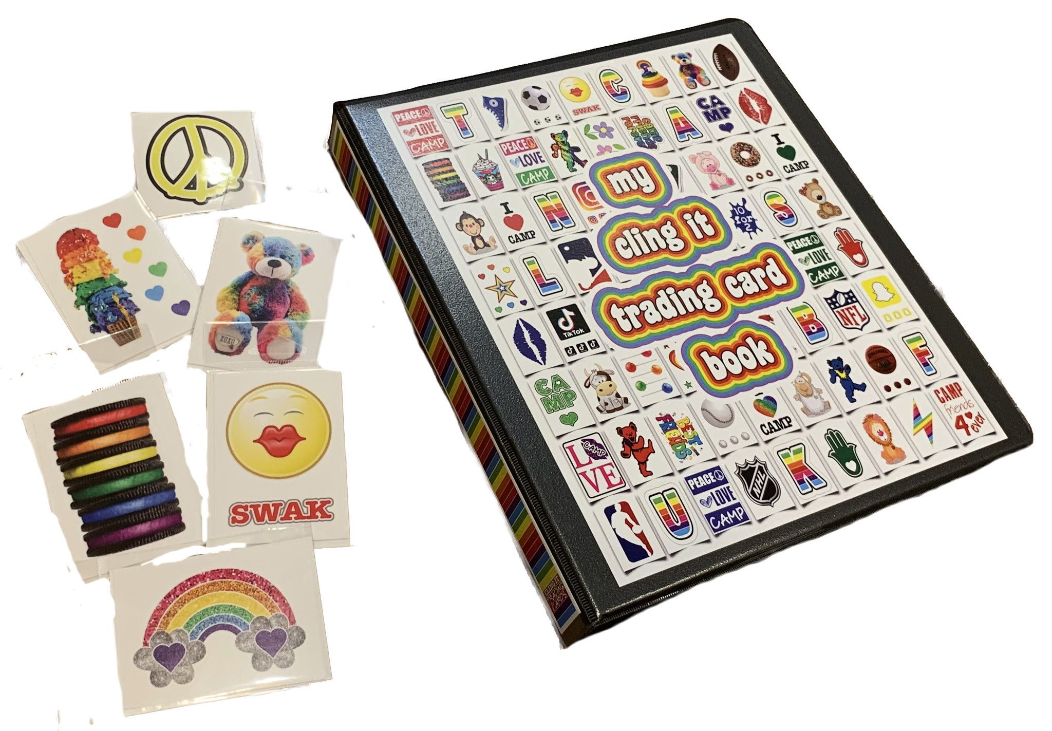 Cling it Sticker Trading Card Book