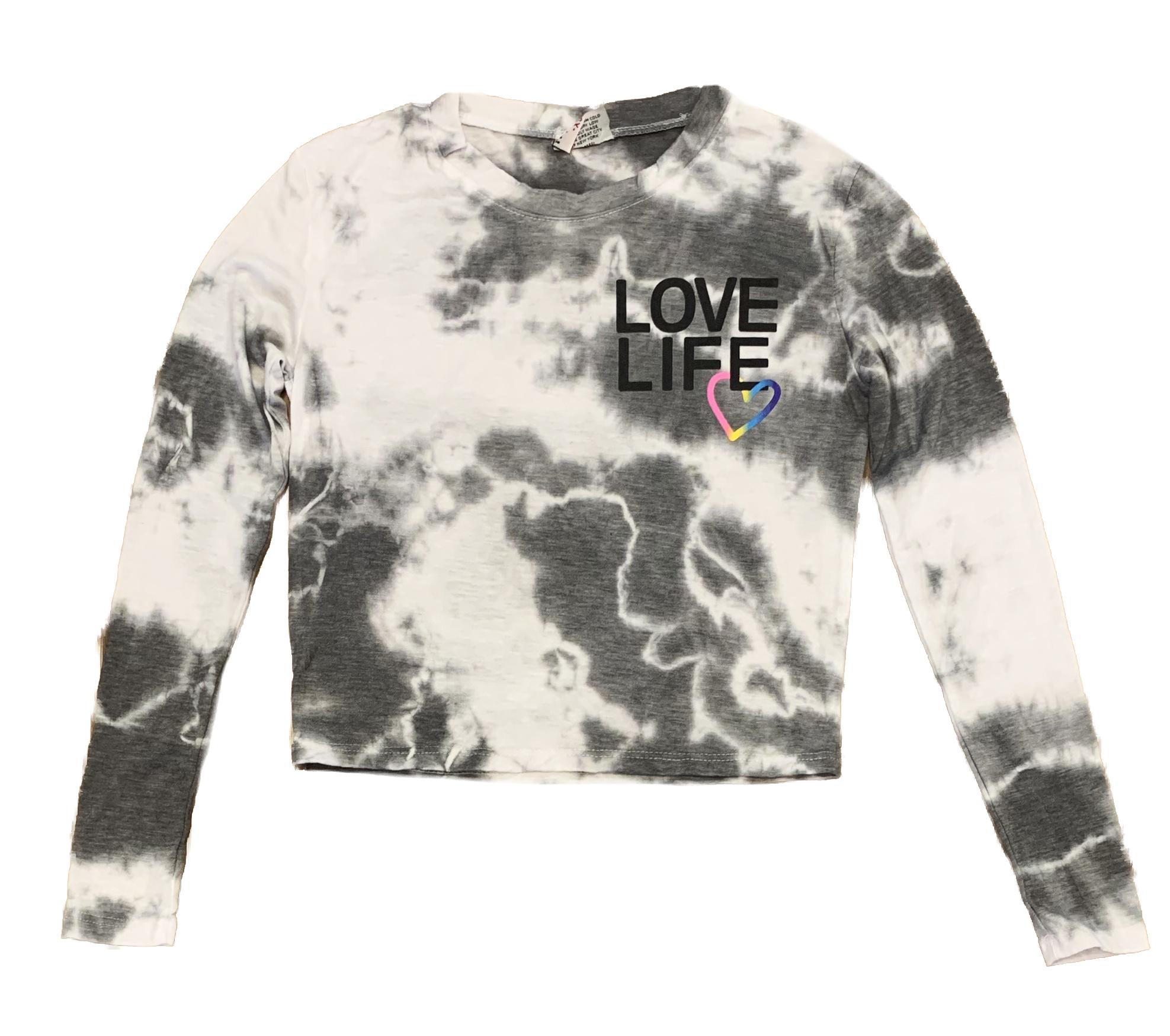 Firehouse Grey Cloud Love Life LS Tee Adult