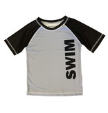 Mish Boys Gray/Black Swim Rashguard