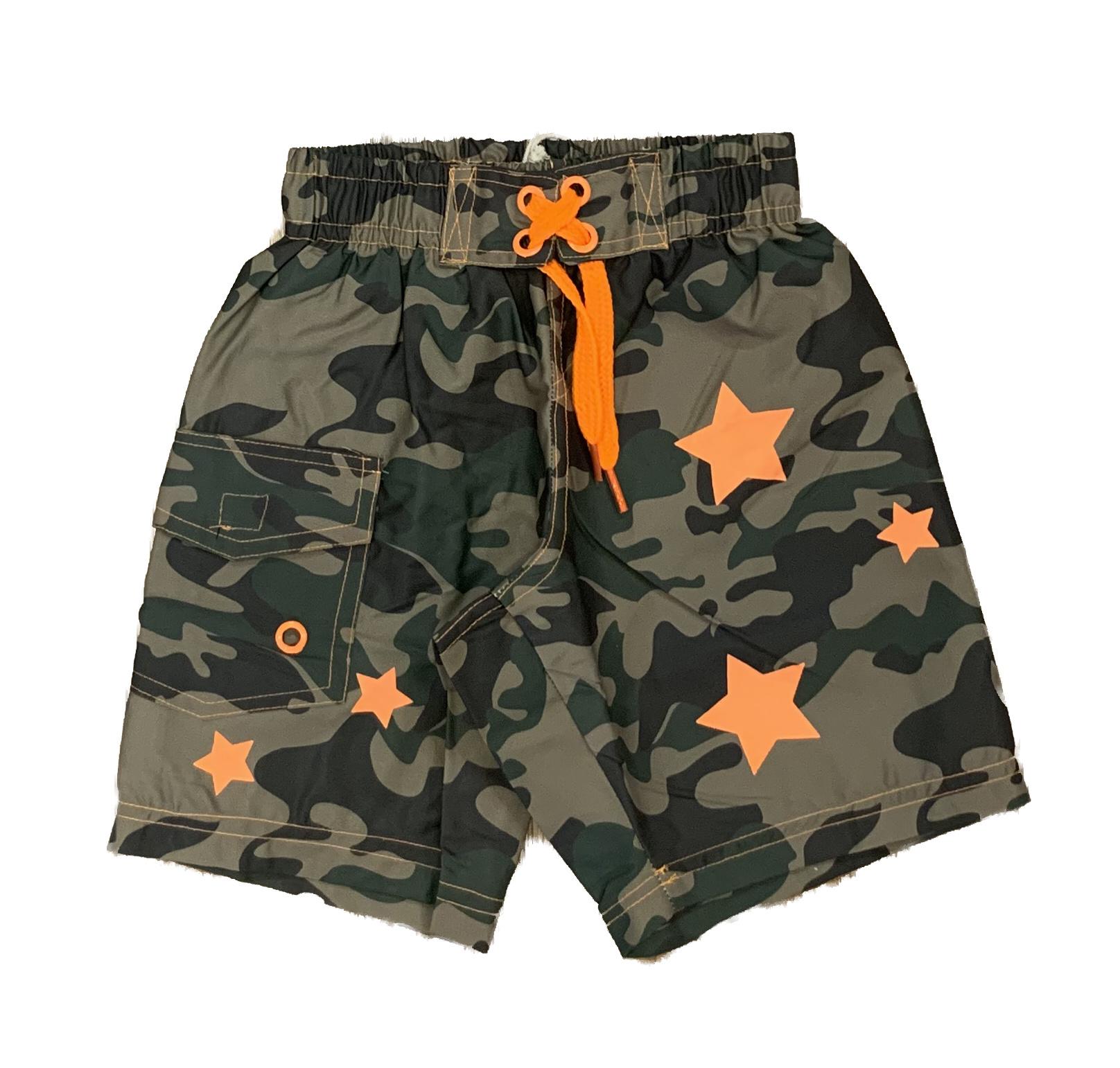 Mish Boys Olive Camo Stars Swim