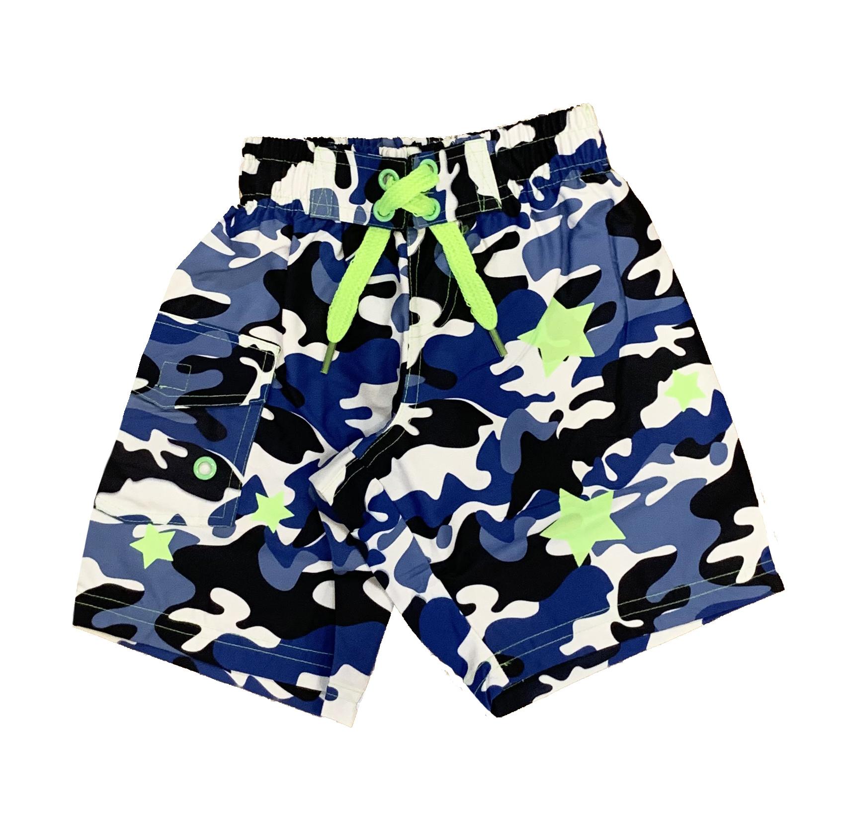 Mish Blue Camo Stars Infant Swimsuit