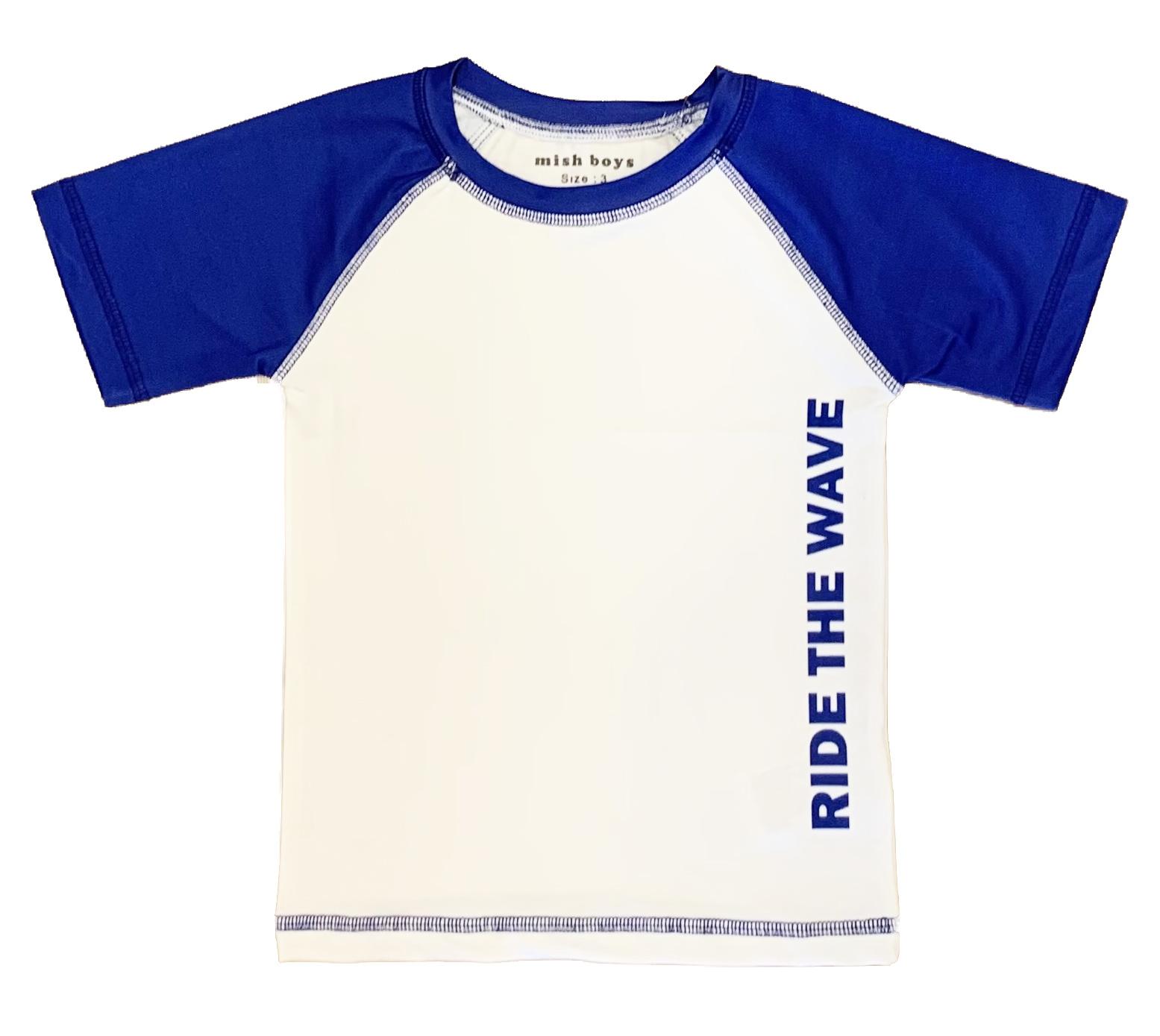 Mish Cobalt/White Wave Infant Rashguard
