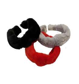 Bari Lynn Faux Fur Knot Headband