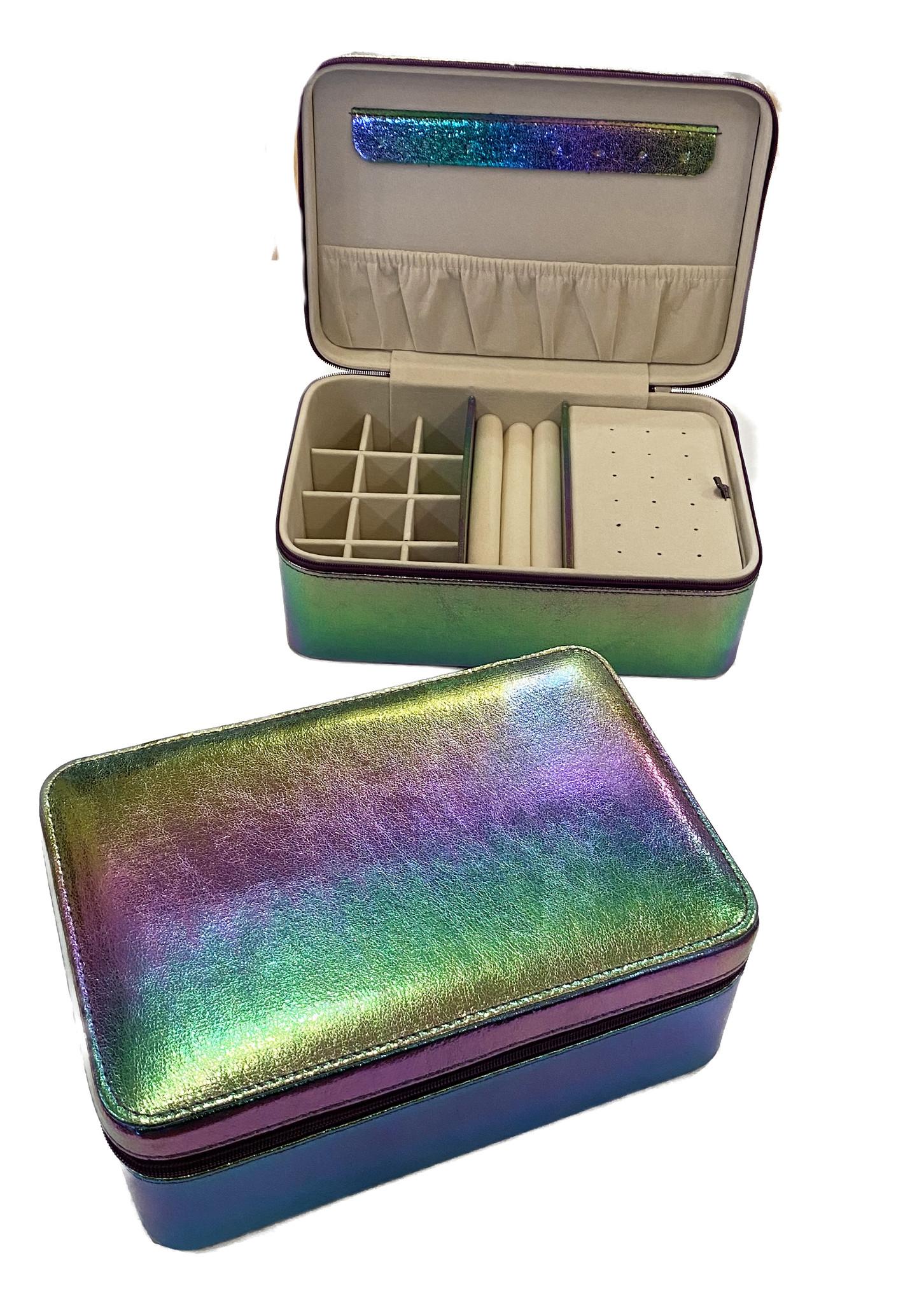 Bari Lynn Jewelry Box - Metallic Ombre Rainbow