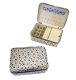 Bari Lynn Jewelry Box - Black/Silver Stars
