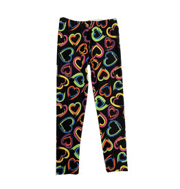Dori Creations Neon Hearts Legging