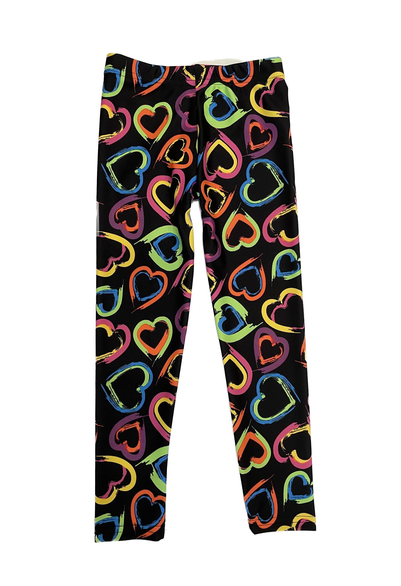 Dori Creations Neon Hearts Legging