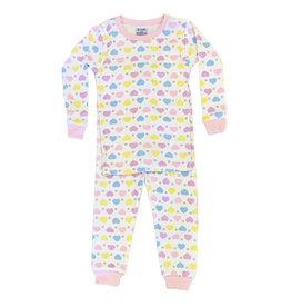 Baby Steps Hearts & Stars Infant PJ Set