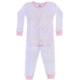 Baby Steps Pink Cheetah Infant PJ Set