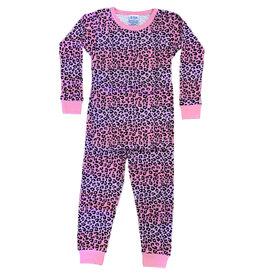 Baby Steps Pink/Lilac Ombre Cheetah PJ Set