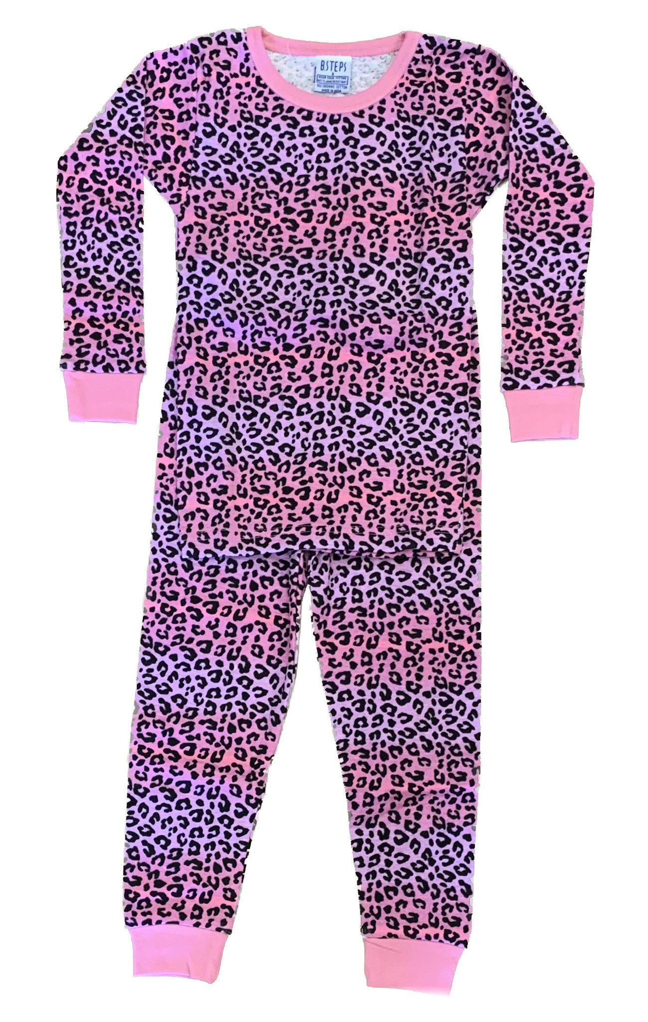 Baby Steps Pink/Lilac Ombre Cheetah Infant PJ Set