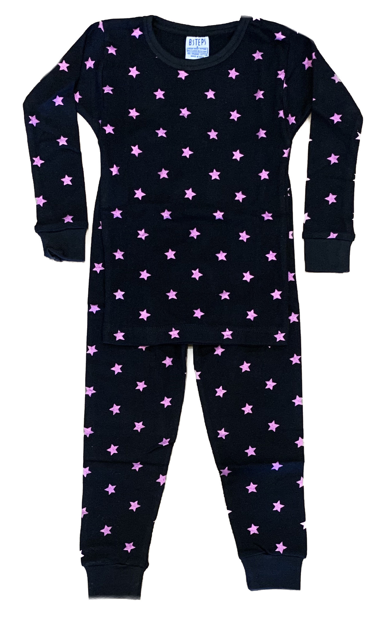 Baby Steps Black Foil Stars PJ Set