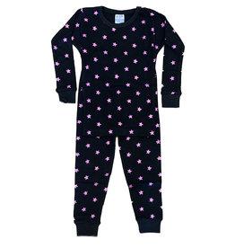 Baby Steps Black Foil Stars Infant PJ Set
