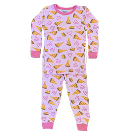 Baby Steps Pink Pizza Love PJ Set