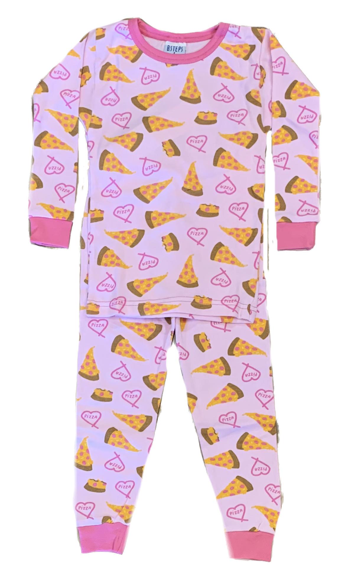 Baby Steps Pink Pizza Party Infant PJ Set