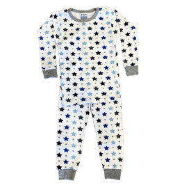 Baby Steps  Blue Grey Stars PJ Set