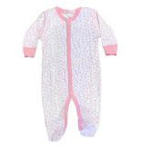 Baby Steps Pink Cheetah Footie