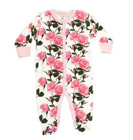 Baby Steps Roses Footie