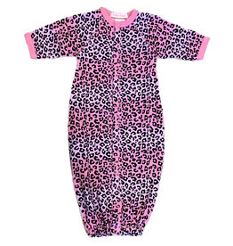 Baby Steps Pink/Lilac Ombre Cheetah Converter Gown