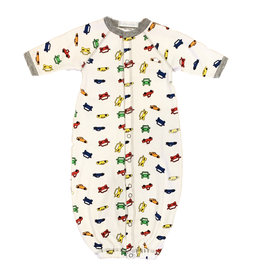 Baby Steps Cars Converter Gown - NB