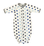 Baby Steps Grey/Blue Stars Converter Gown -NB