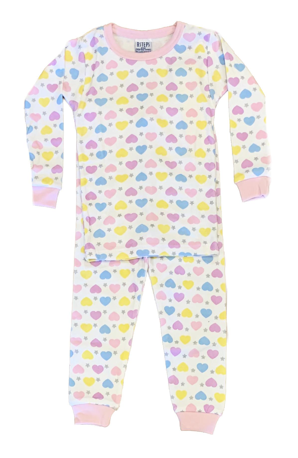 Baby Steps Hearts & Stars PJ Set