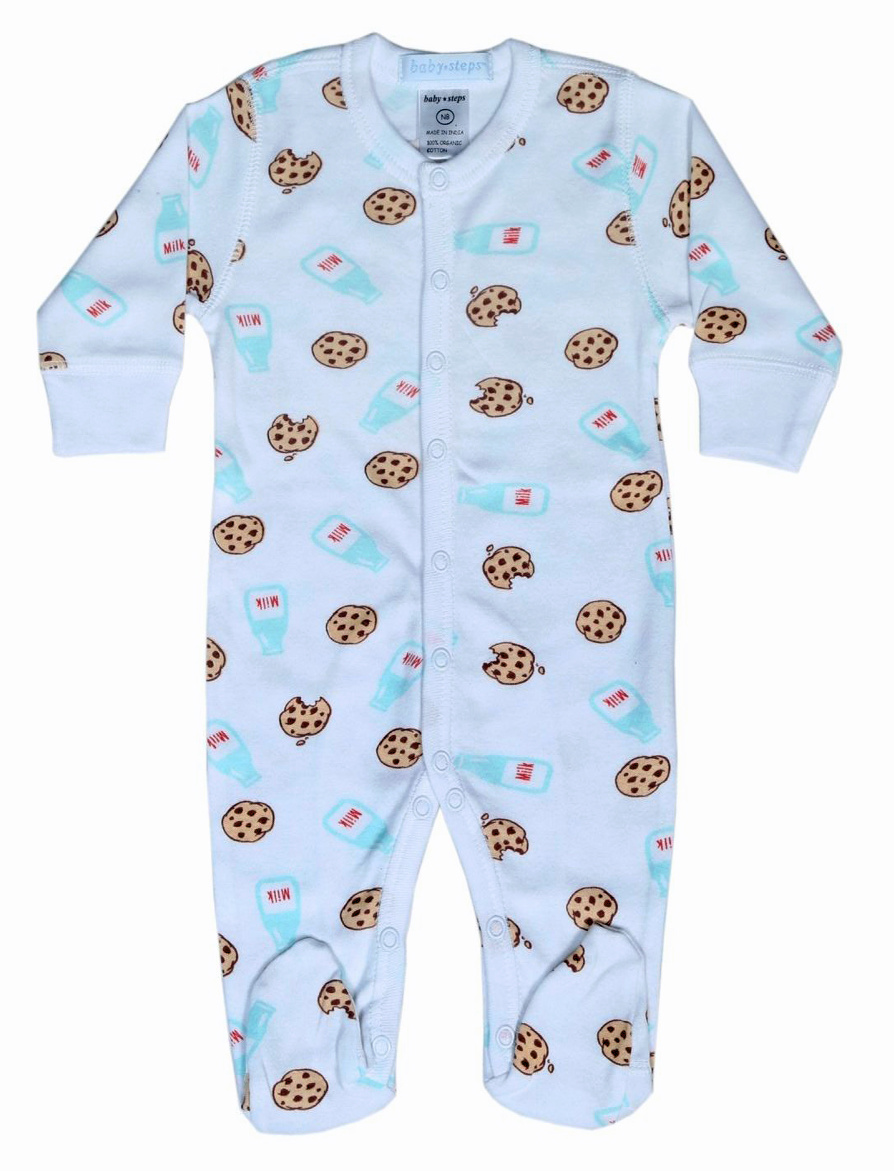 Baby Steps Milk & Cookies Footie
