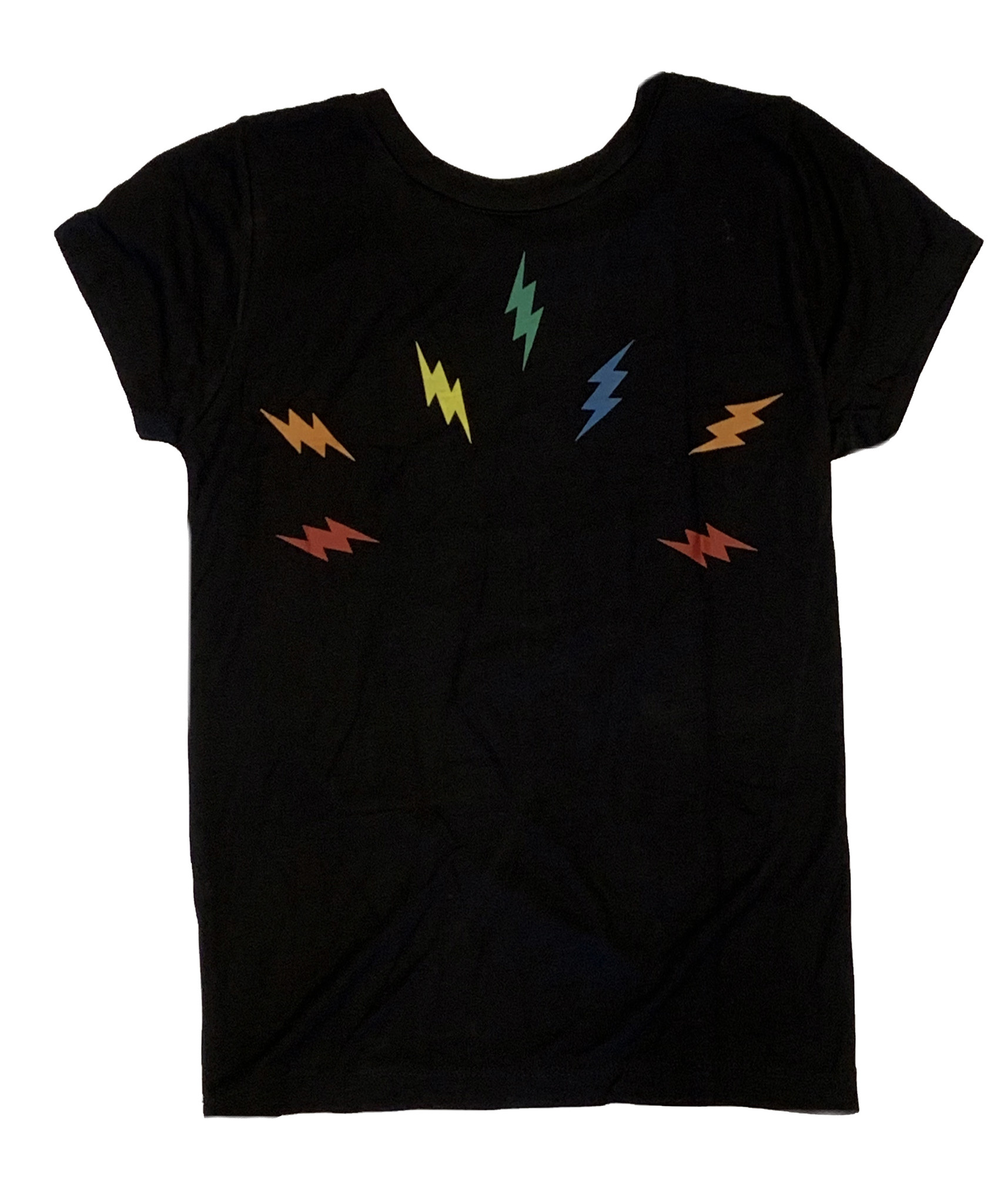 Flowers by Zoe Black Circle Bolt SS Tee