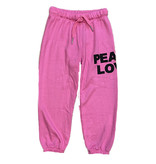 Flowers by Zoe Pink Peace Love Sweatpant