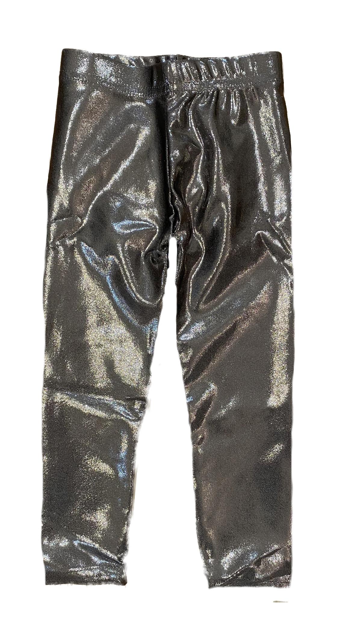 Dori Charcoal Lame Infant Leggings