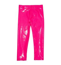 Dori Neon Pink Lame Leggings