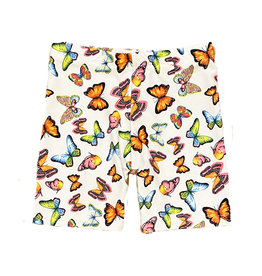 Dori Neon Butterfly White Bike Shorts