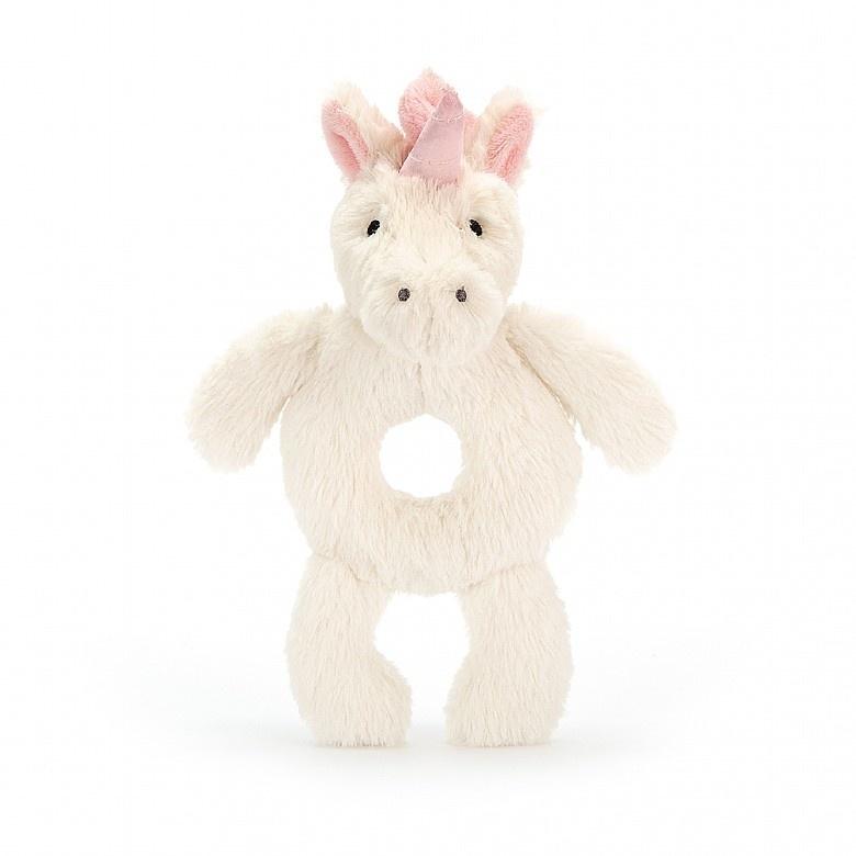 Jellycat Unicorn Plush Ring Rattle