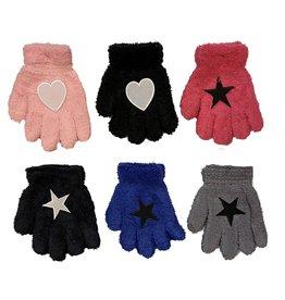 Fuzzy Appliqued Gloves for Toddler/Kids