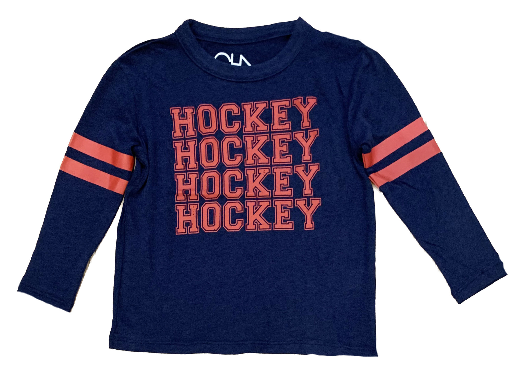 Chaser Navy Hockey LS Tee