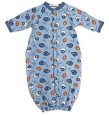 Baby Steps Lt. Blue Football Converter Gown