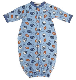 Baby Steps Lt. Blue Football Converter Gown